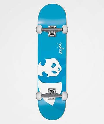 "Enjoi Panda Blue 8.0"" Skateboard Complete"