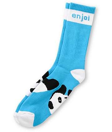 Enjoi Panda Feet Turquoise Crew Socks