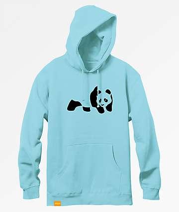 Enjoi Panda Flocking Mint Hoodie