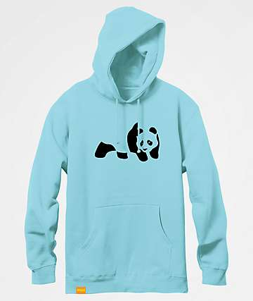 Enjoi Panda Flocking Mint Hoodie