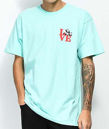 Enjoi Panda Love Celadon camiseta