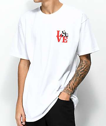 Enjoi Panda Love camiseta blanca