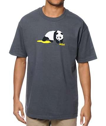 Enjoi Panda Pee Charcoal T-Shirt