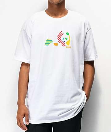 Enjoi Patchwork Panda White T-Shirt