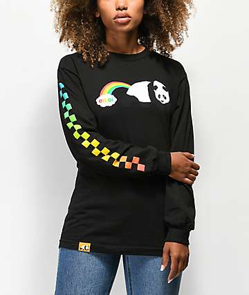 Enjoi Rainbow Fart Black Long Sleeve T-Shirt