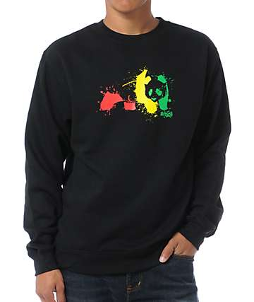 Enjoi Rasta Splat Black Crew Neck Sweatshirt