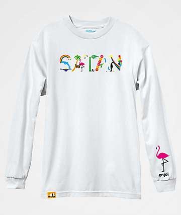 Enjoi Satan White Long Sleeve T-Shirt