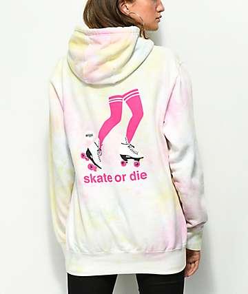 Enjoi Skate Or Die sudadera con capucha arcoíris con efecto tie dye