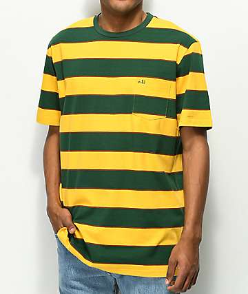 Enjoi Slappy Knit Gold & Green Stripe T-Shirt