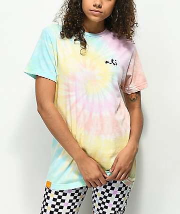 Enjoi Small Panda Rainbow Tie Dye T-Shirt