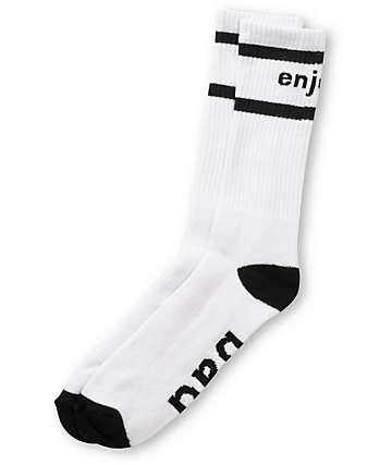 Enjoi Smells Bad White Crew Socks