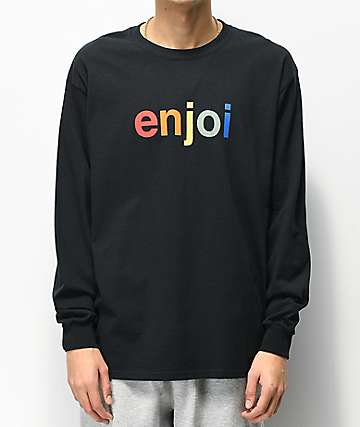 Enjoi Spectrum Logo Black Long Sleeve T-Shirt