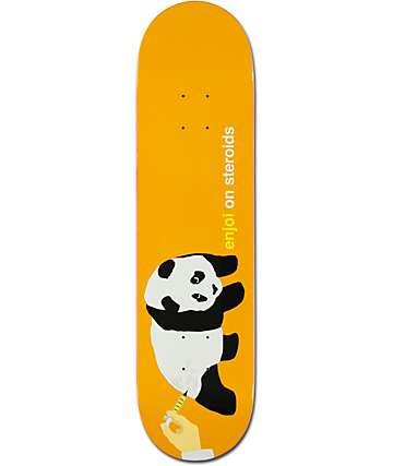 """Enjoi Steroids Orange Panda 8.0""""  Skateboard Deck"""