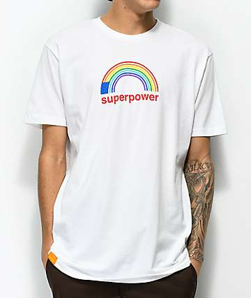 Enjoi Superpower White T-Shirt