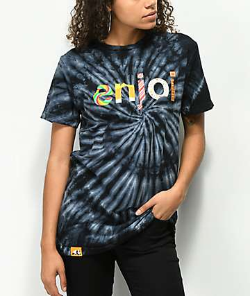 Enjoi Sweet Candy Black Tie Dye T-Shirt