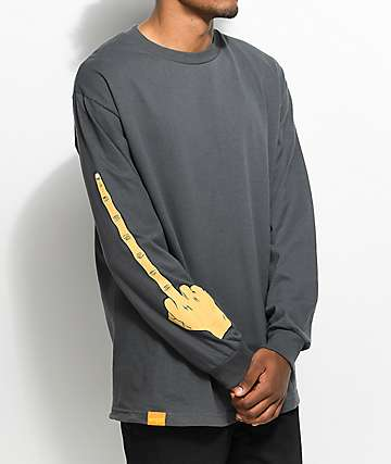 Enjoi The Bird Charcoal Long Sleeve T-Shirt