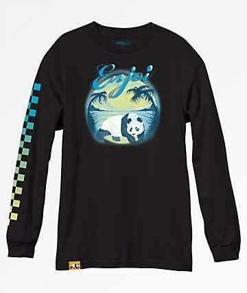 Enjoi Tonal Airbrush Black Long Sleeve T-Shirt