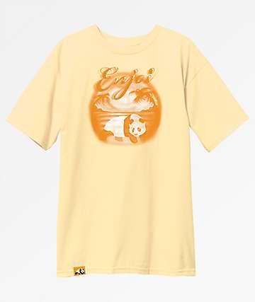 Enjoi Tonal Airbrush Light Yellow T-Shirt