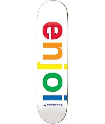 """Enjoi White Spectrum PP 7.75"""" Skateboard Deck"""