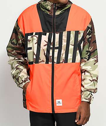 Ethik Game Assassin Orange & Camo Windbreaker Jacket