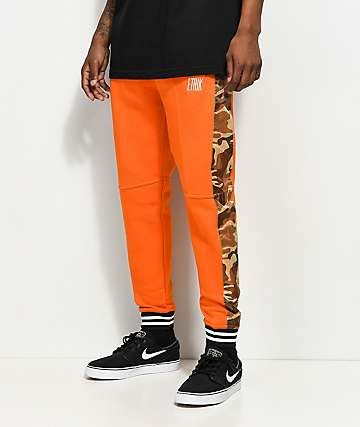 Ethik Militant Orange & Camo Sweatpants