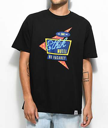 Ethik No Vacancy camiseta negra