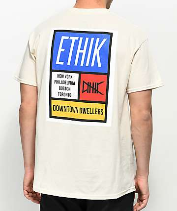Ethik Primary Blocks Cream T-Shirt