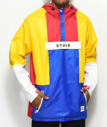 Ethik Trekker Colorblocked Anorak Jacket