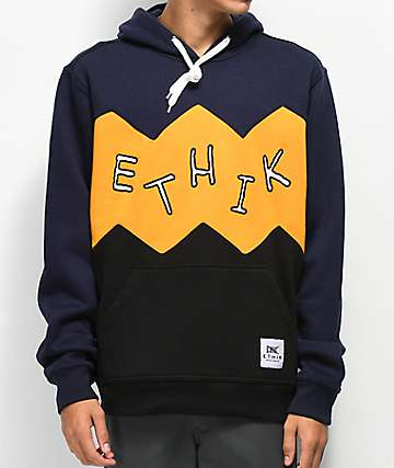 Ethik Zigzagged Multi Colored Hoodie