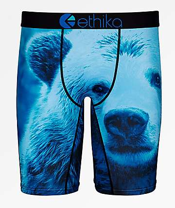 Ethika Boys Blue Bear Boxer Briefs