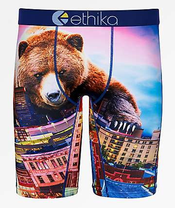 Ethika Boys Memphis Grizzly Boxer Briefs