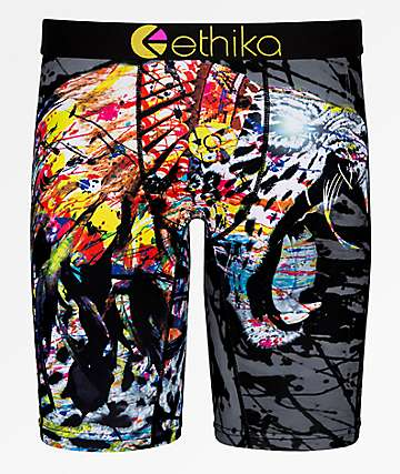 Ethika Boys Native Jaguar Boxer Briefs