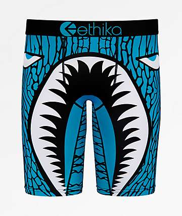 Ethika Boys War Plane Shark Boxer Briefs