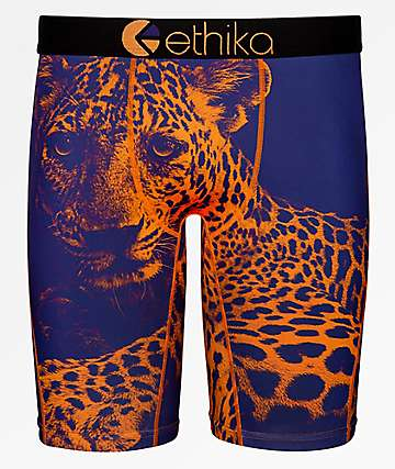Ethika Bronze Leopard calzoncillos boxer