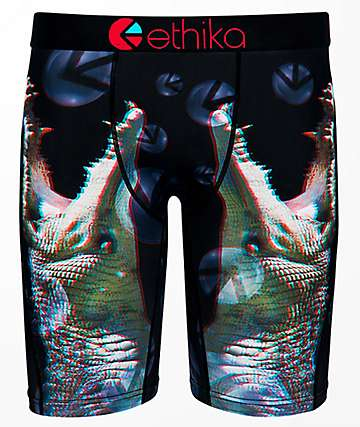 Ethika Crikey 3D Black & Red Boxer Briefs