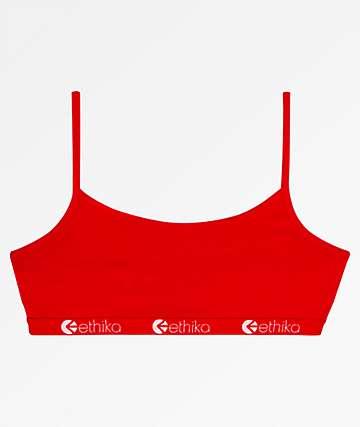 Ethika Deep Red Pullover Bralette