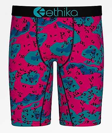 Ethika Desert Camo Pink & Blue Boxer Briefs