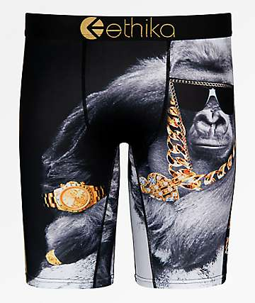 Ethika Floss Black Boxer Briefs