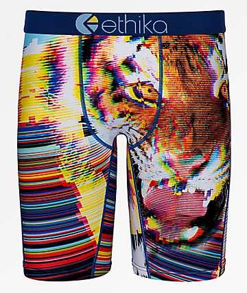 Ethika Glitch calzoncillos boxer de tigre