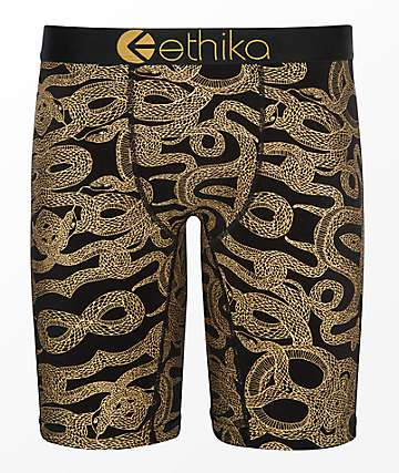 Ethika Gold Snake Boxer Briefs