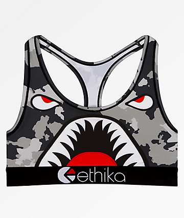 Ethika Grey Warplane Sports Bra