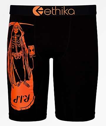 Ethika Grim Reaper calzoncillos boxer negros