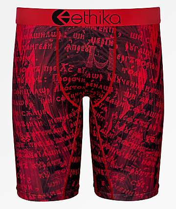 Ethika Medieval Black & Red Boxer Briefs