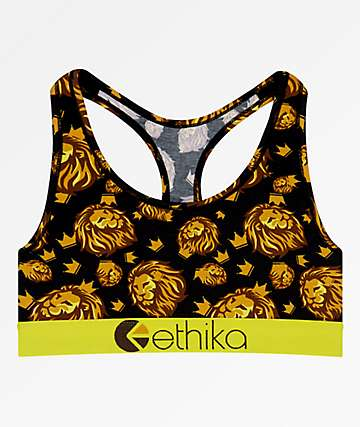 Ethika Royal Camo Lion Sports Bra