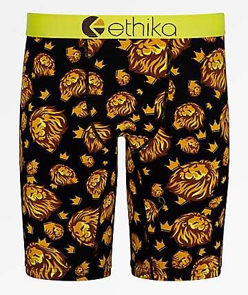 Ethika Royal Camo calzoncillos bóxer  negros y dorados