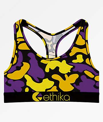 Ethika Showtime Camo Sports Bra
