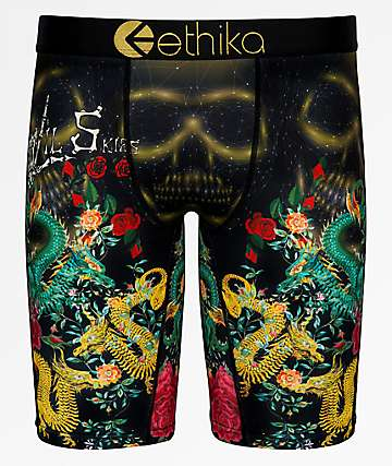 Ethika Skies Garden Black Boxer Briefs