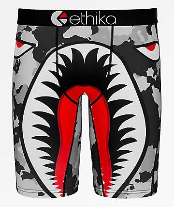 Ethika War Plane Grey Boxer Briefs