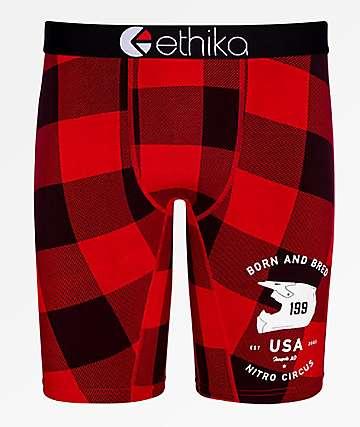 Ethika x Nitro Circus Boys Lumberjack Boxer Briefs