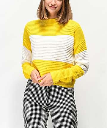 Ethos suéter amarillo con cuello subido